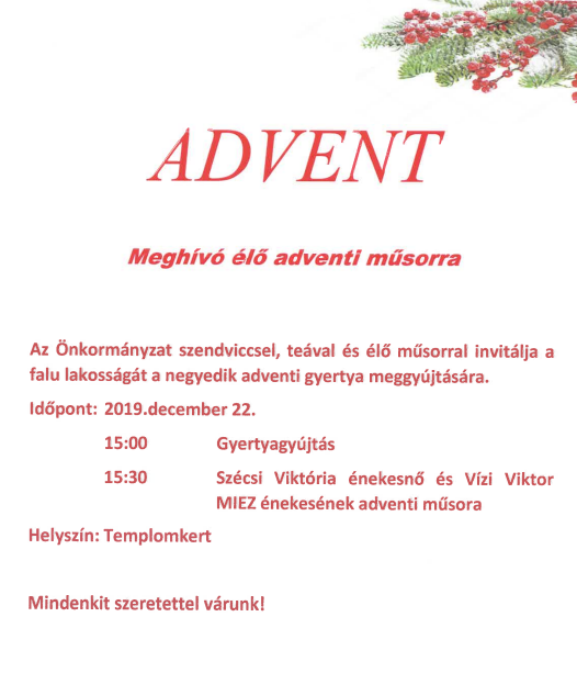 AdventiMeghívó2019